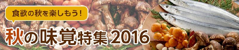秋の味覚特集2016